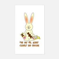Easter Irony Rectangle Decal