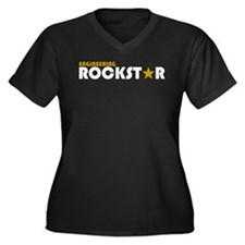 Engineering Rockstar 2 Women's Plus Size V-Neck Da