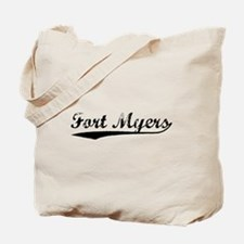 Vintage Fort Myers (Black) Tote Bag