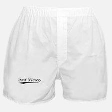 Vintage Fort Pierce (Black) Boxer Shorts