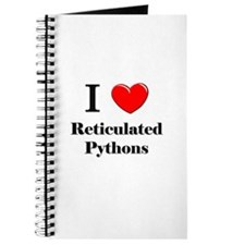 I Love Reticulated Pythons Journal