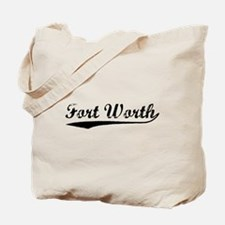Vintage Fort Worth (Black) Tote Bag