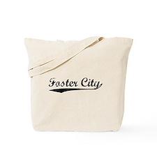 Vintage Foster City (Black) Tote Bag