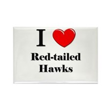 I Love Red-tailed Hawks Rectangle Magnet