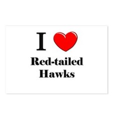I Love Red-tailed Hawks Postcards (Package of 8)