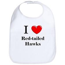 I Love Red-tailed Hawks Bib
