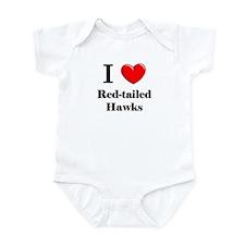 I Love Red-tailed Hawks Infant Bodysuit