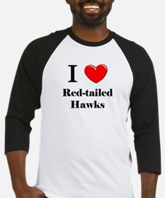 I Love Red-tailed Hawks Baseball Jersey