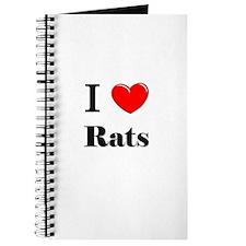 I Love Rats Journal