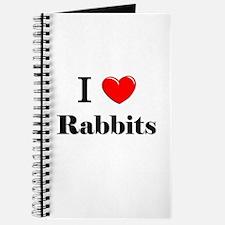 I Love Rabbits Journal