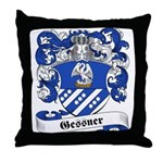 Gessner Family Crest Throw Pillow