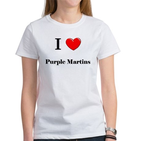 I Love Purple Martins Women's T-Shirt