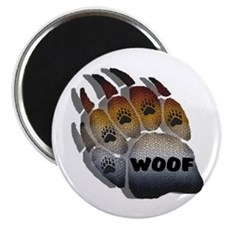 WOOF BEAR PRIDE PAW Magnet