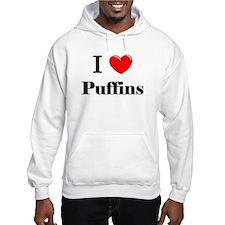 I Love Puffins Hoodie