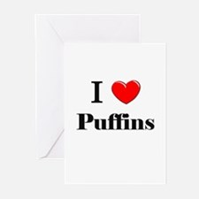 I Love Puffins Greeting Cards (Pk of 10)
