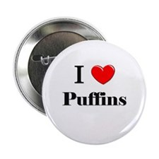 "I Love Puffins 2.25"" Button"