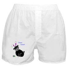 Easter StickPug (Black) Boxer Shorts