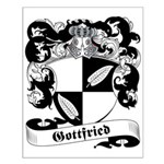 Gottfried Family Crest Small Poster