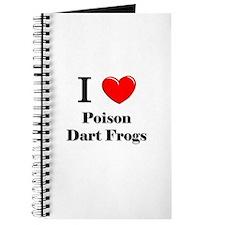 I Love Poison Dart Frogs Journal