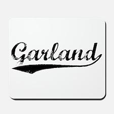 Vintage Garland (Black) Mousepad