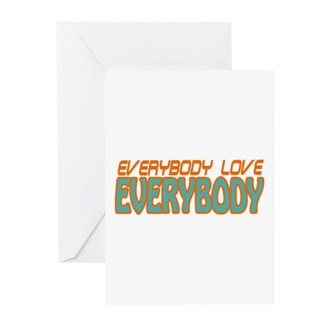 Semi-Pro - Everybody Love Everybody Greeting Cards