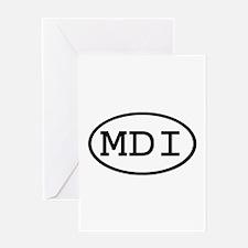 MDI Oval Greeting Card