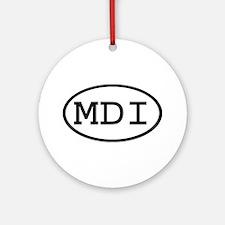 MDI Oval Ornament (Round)