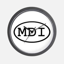 MDI Oval Wall Clock