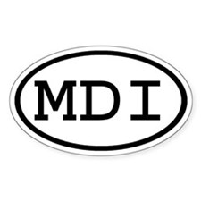MDI Oval Oval Decal