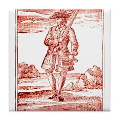 Calico Jack Pirate Tile Coaster