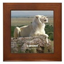 Lufuno the White lion Framed Tile