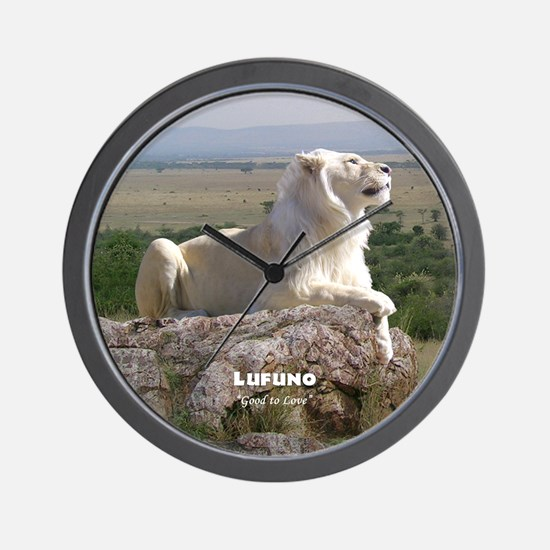 Lufuno the White lion Wall Clock