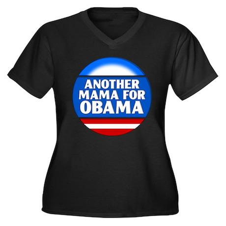Obama Mama 1 Women's Plus Size V-Neck Dark T-Shirt