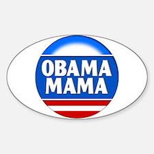 Obama Mama 2 Oval Decal