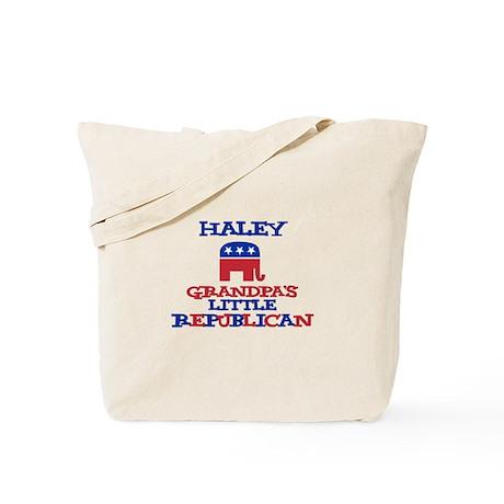 Haley - Grandpa's Little Repu Tote Bag