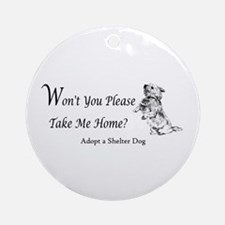 Won't You Please Take Me Home Ornament (Round)