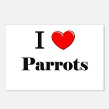 I Love Parrots Postcards (Package of 8)