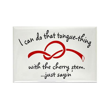 Cherry Stem Rectangle Magnet