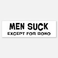 Except for Bono Bumper Bumper Bumper Sticker