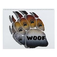 13 UNIQUE BEAR PRIDE PAWS Wall Calendar