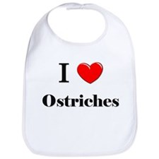 I Love Ostriches Bib
