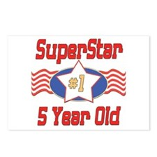 Superstar at 5 Postcards (Package of 8)