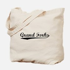 Vintage Grand Forks (Black) Tote Bag