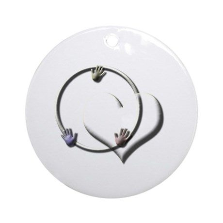 Candaa Circle of Love Ornament (Round)