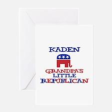 Kaden - Grandpa's Little Repu Greeting Card