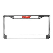 Cute House music License Plate Frame