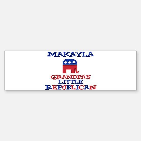 Makayla - Grandpa's Little Re Bumper Car Car Sticker