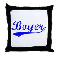 Vintage Boyer (Blue) Throw Pillow
