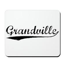 Vintage Grandville (Black) Mousepad