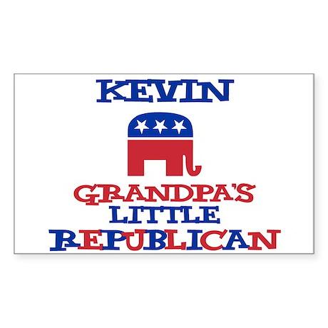 Kevin - Grandpa's Little Repu Sticker (Rectangular